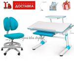 Парта Evo-kids Duke 501 Blue с полкой  и кресло Mealux Mealux Duo Kid Y-616 KBL