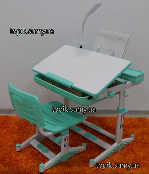 Комплект парта и стул Evo-kids BD-04 Z New Green с лампой