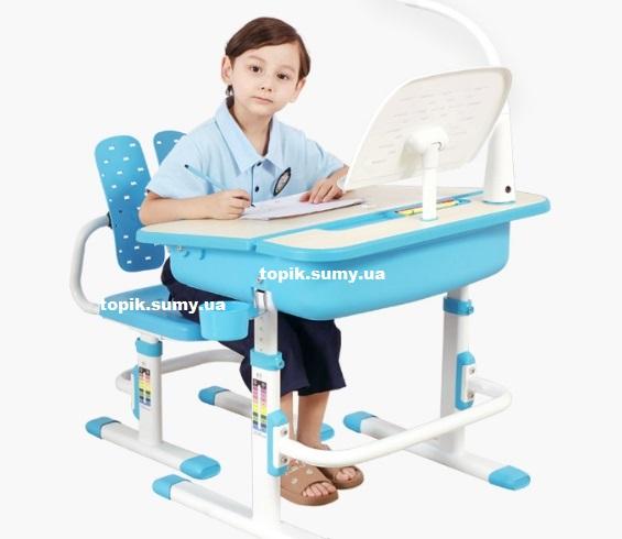 Комплект Evo-kids (стул+стол+полка+лампа) Evo-03 BL